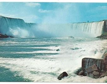 Vintage Canadian postcard/ Horseshoe falls/ maid of the mist