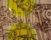 Acid green Steampunk Goggle Lenses
