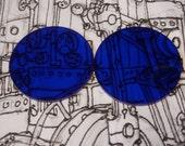 "Dark blue Steampunk Goggle Lenses 2"""