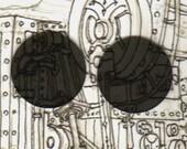 2 inch Medium grey Steampunk Goggle Lenses
