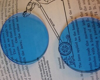 2 inch Light blue Steampunk Goggle Lenses