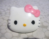 LARGE Hello Kitty Face Adjustable Ring, White, PINK, Torture Couture, Kawaii, Harajuku, Lolita, Cosplay, Japan, Sanrio