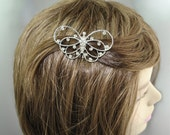 60s Rhinestone Hinged Butterfly Hair Comb Ornament