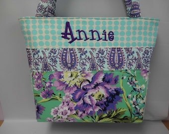 DELUXE ...Amy Butler LOVE Collection Personalized   Diaper Bag ...   Weekender ... ZIPPER ... Bottle Pockets