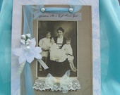 Vintage Family Picture Upcycled Mom and Children Cabinet Card - CLEARANCE