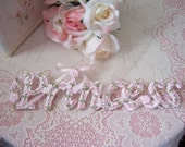 Pink Rosebuds for your PRINCESS Wood Word Art Sweet Girl's Rm Decor Sign Plaque Wall Hanging or Shelf