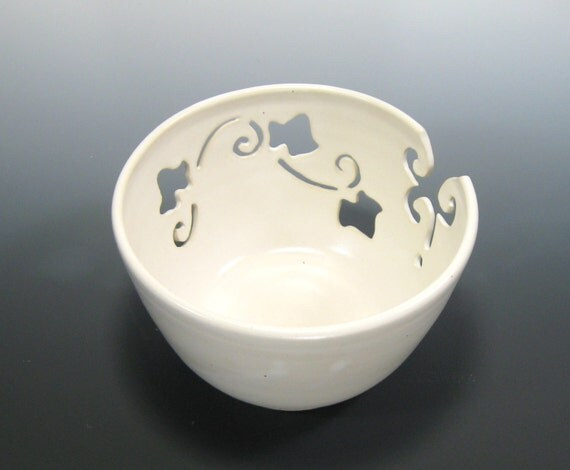 Ceramic Yarn Bowl Knitting Crochet Pottery Bowl Knitting Supplies