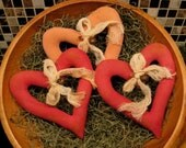 EPATTERN -- Primitive Open Hearts Tuck Ornies Bowl Filler