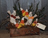 EPATTERN -- Primitive Ghost and Candy Corn Halloween Gathering