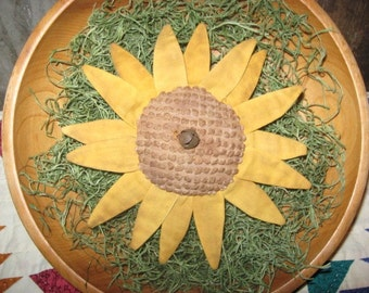 EPATTERN -- Primitive Summer Sunflower Tucks Flower Ornies Bowl Fillers