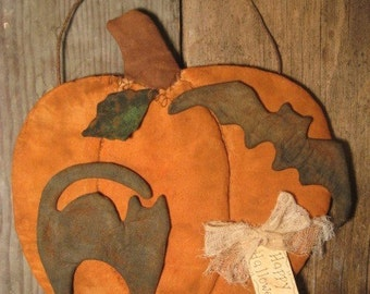 EPATTERN -- Halloween Pumpkin Door Greeter Wall Hanging Primitive Pattern
