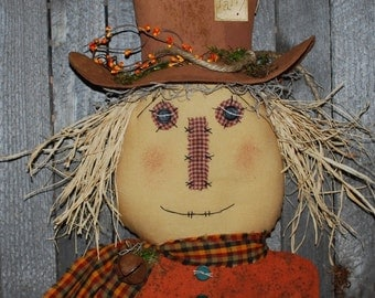 EPATTERN -- Primitive Scarecrow Door Greeter Wall Hanging