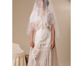 Bridal Silk Tulle circle blusher wedding veil - Style no.839