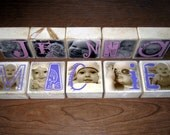 Personalized Wooden NAME Photo Blocks- for child or baby's room