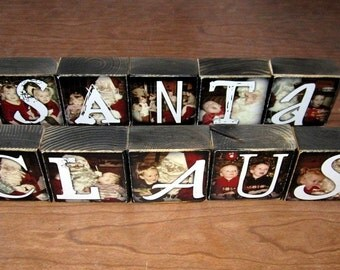 Personalized PHOTO GIFT- Photo Letter Blocks- instead of a card- set of 10