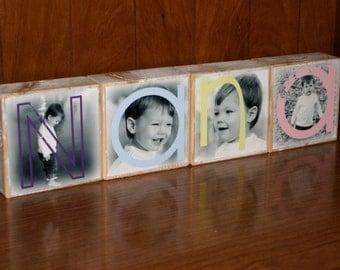 Photo Blocks- NANA- set of 4 Letter Blocks
