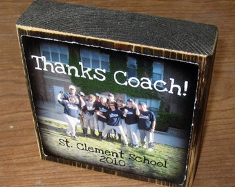 TEACHER or CoACH Personalized gift- Larger Photo Letter Blocks- GRADUATION thanks coach FRIENDS