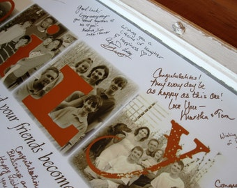 Personalized Guest Book- Personalized Photo Letter GICLEE Print- made to order- FAMILY LOVE, last name- price per letter