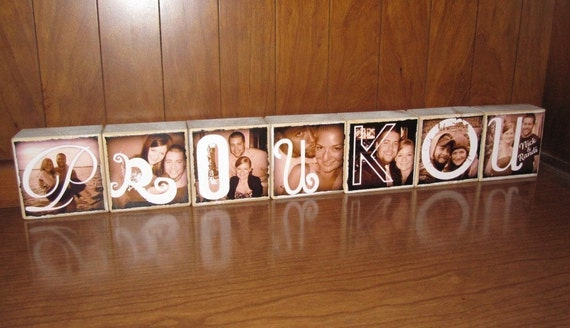 Personalized Photo Blocks- for your wedding- MR. and MRS. reception decoration- last name- personalized wedding gift