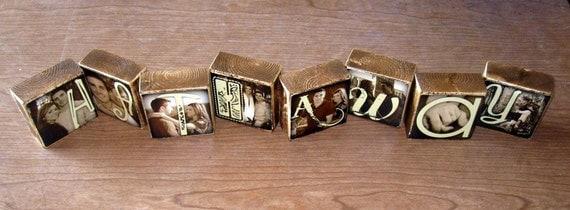 Photo Blocks- Last Name WEDDING / ENGAGEMENT GIFT- per block- per letterprice