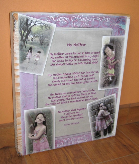 Personalized Photo Collage Blocks- Custom made to order with multiple pictures