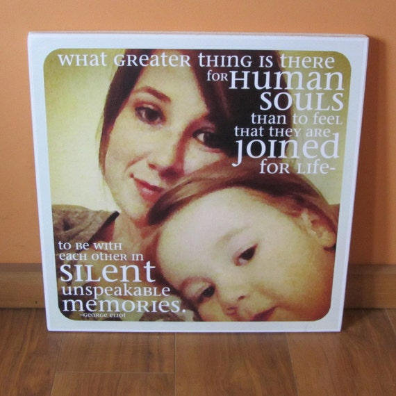 """Personalized PHOTO Giclee MOUNTED prints- custom made to order with your saying and photo- 13"""" x 13"""""""
