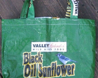 Black Sunflower Recycled Tote