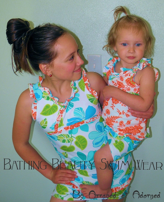 Order For AMY-   The Bell Pheobe...   Bathing Beauty Swim Wear- A Modest Swim Suit for the Little Lady                         Size 10/11