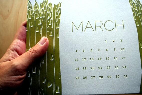 2013 Letterpress Calendar - Growth Spurt