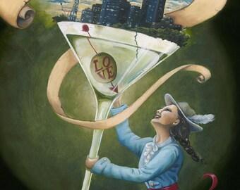 Philadelphia, Pursuing Happiness, 8x10 matted print