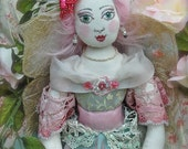 Exquisite Top Quality Labour of Love OOAK Cloth Doll Fairy Maria Floretta