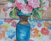 Roses in 70s Vase June 2008