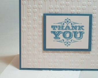 Engraved Greetings Thank You Card