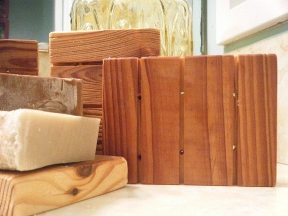 Wooded Soap Holder from reclaimed cypress over 100 years old