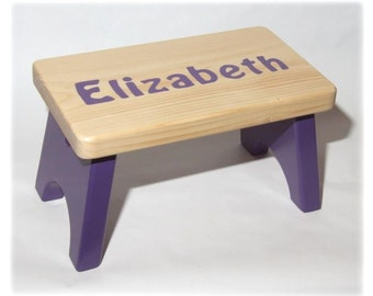 Personalized Childrenu0027s Wood Stool or Bench (Price Reduction) & Personalized Wooden Toy Mini Box Truck Savings Bank islam-shia.org