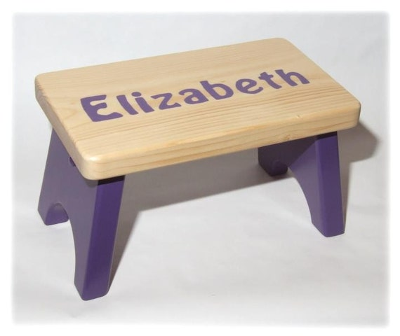 Personalized children s wood stool or bench price