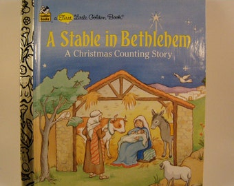 A Stable in Bethlehem: A Christmas Counting Story, vintage First Little Golden Book