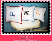 Letter Pillow Cover - Initial It - 16 x 16 square