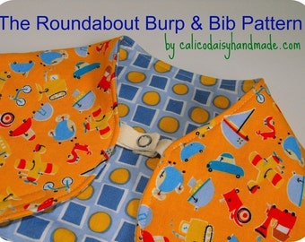 Roundabout Burp and Bib PDF Pattern and Tutorial - Digital File