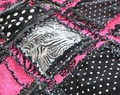 CUSTOM King Size Rag Quilt You Pick Colors, Made to Order