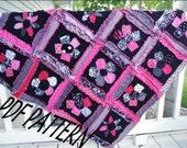 Flower Applique Rag Quilt Applique Quilt Pattern - Baby Quilt Patterns - Easy Quilt Patterns - Quick Quilt Patterns - Beginner Quilting