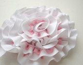 Fabric Flower PATTERN, Ruffled Ribbon or Fabric Flower, Instant Download