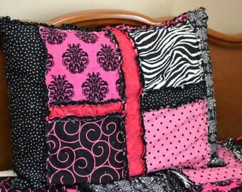 Pillow Sham Pattern - Rag Quilt Pillow Pattern - Pillow Girl Quilt Pattern - Kid Sewing Pattern - Rag Quilt Pillow Baby Pattern