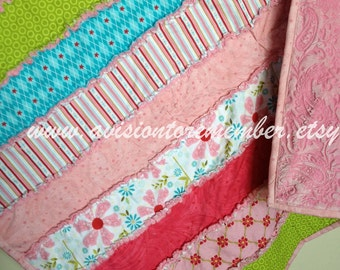 Strip Rag Quilt Sewing Patterns - Simple Quilt Pattern - Easy Quilt Patterns- How to Make a Rag Quilt Pattern- Baby Pattern - Beginner Quilt
