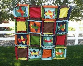 Airplane Quilt Pattern - Applique Quilt Pattern - Boy Quilt Pattern- Baby Quilt Patterns- Airplane Baby Quilt Crib Bedding Pattern