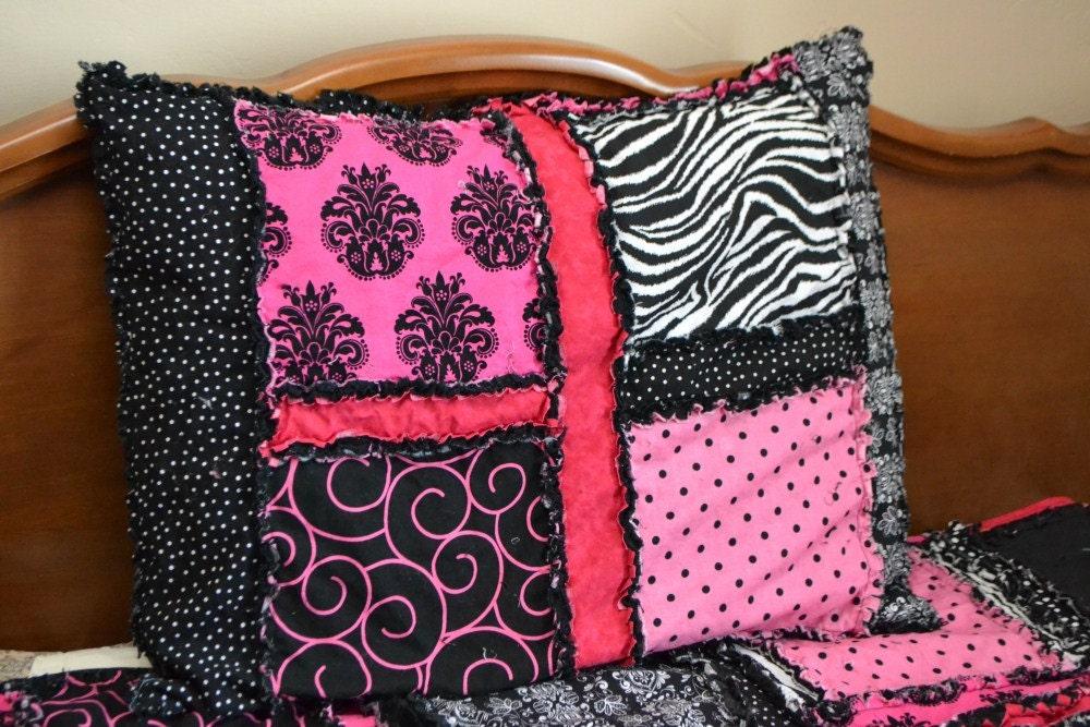 Pillow Sham Pattern - Rag Quilt Pillow Pattern - Pillow Girl Quilt ... : quilted pillow cases - Adamdwight.com