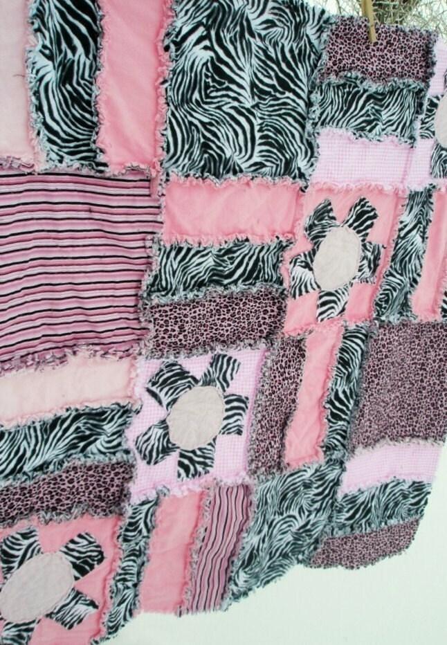 Rag Quilt Pattern Baby Blanket Crib Bed By Avisiontoremember