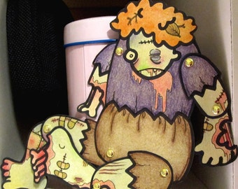 PDF Zombie Thelma - Jointed Paper Zombie Doll