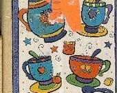INKADINKADO RUBBERSTAMP Tea Time Cups Alison Jerry 9280-x