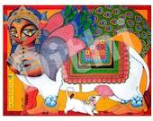 Kamdhenu the wish granting Goddess PRINT